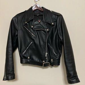 Vintage Brooks Leather Biker Jacket